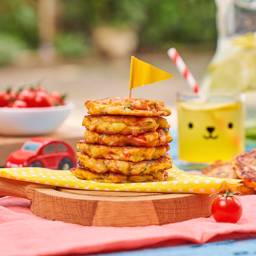 Sweetcorn and Tomato Rainbow Fritters