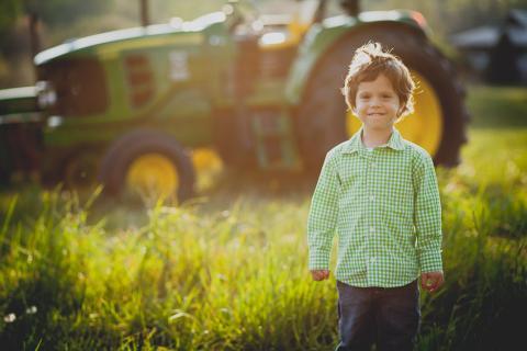 A child on a farm by William Petruzzo