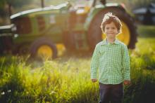 A child on a farm by William Petruzzo