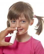 Girl gets flu vaccine up nose