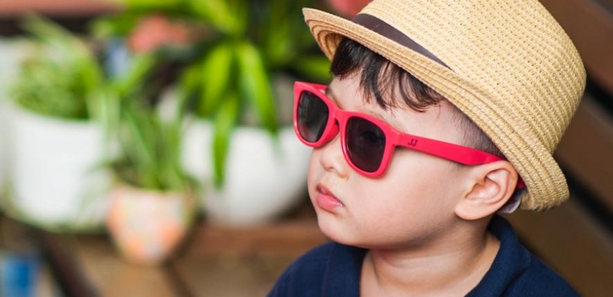 Boy in sunglasses